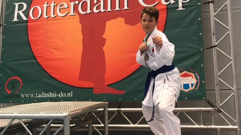 Twee keer brons en één keer zilver voor Wairando bij Rotterdam Cup