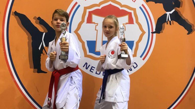 Zilver en brons op Open Karate Jeugdkampioenschap voor Wairando karateka's Jay en Mila